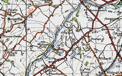 Old map of Leeds and Liverpool Canal in 1947