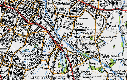 Old map of Olton in 1947