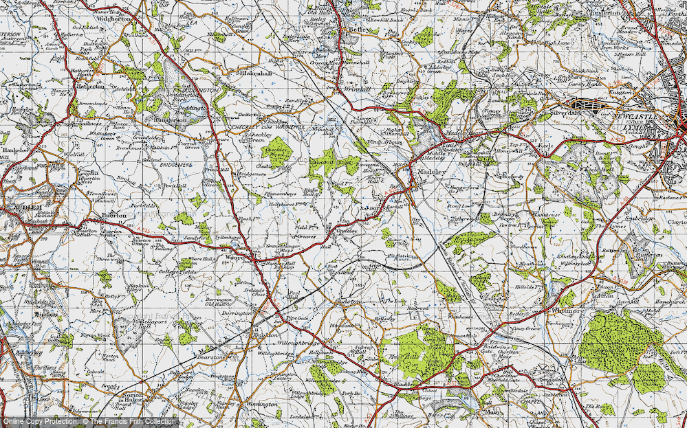 Old Map of Onneley, 1946 in 1946