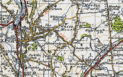 Old map of Openwoodgate in 1946
