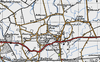 Old map of Alma Lodge in 1946