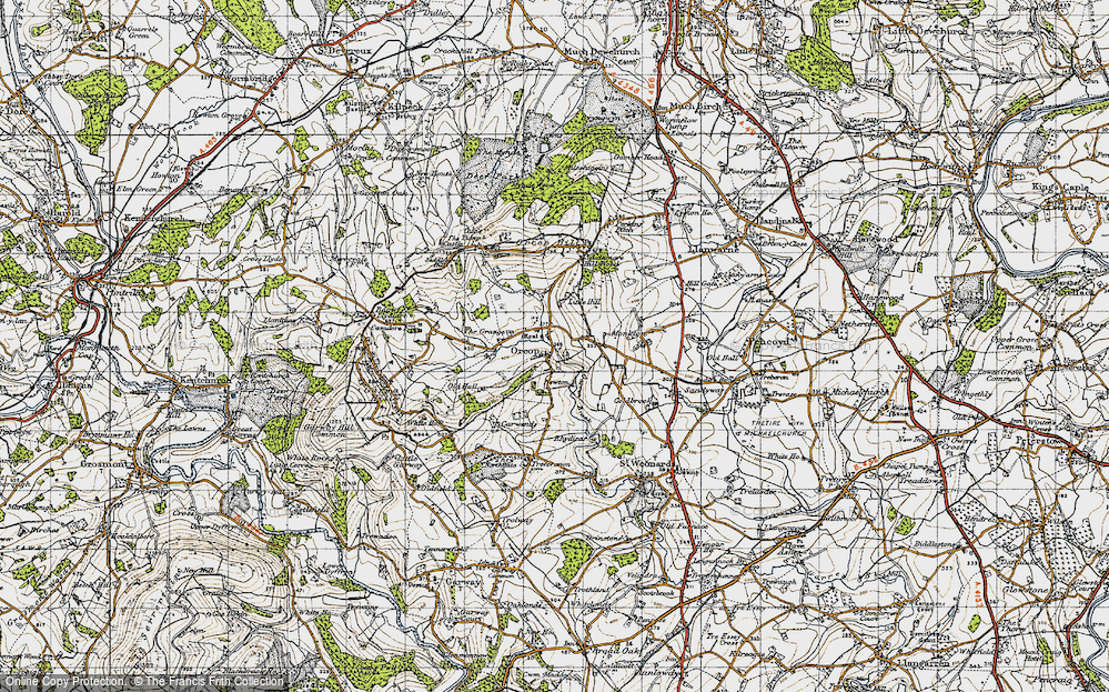 Old Map of Orcop, 1947 in 1947