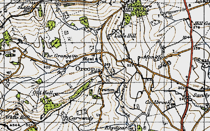 Old map of Orcop in 1947