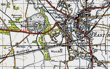 Old map of Whisker Hill in 1947