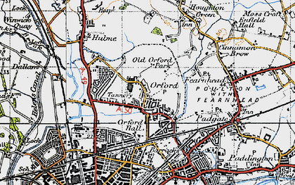 Old map of Orford in 1947
