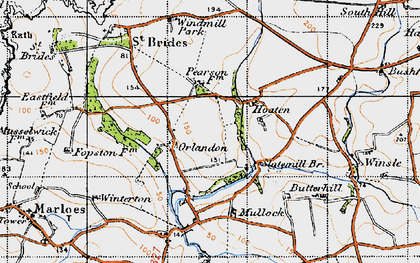 Old map of Winsle in 1946