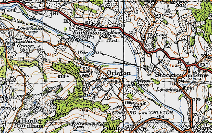 Old map of Orleton in 1947