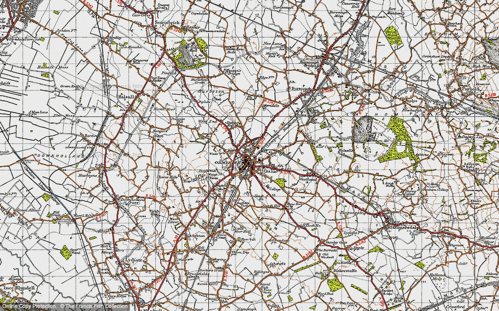 Old Map of Ormskirk, 1947 in 1947