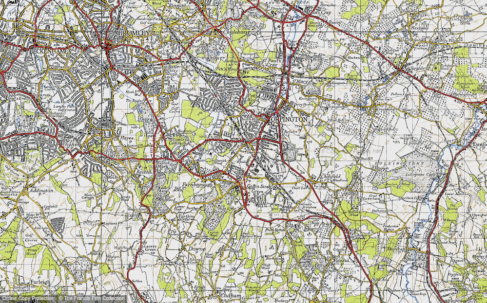 Old Map of Orpington, 1946 in 1946