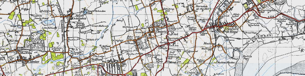 Old map of White Crofts in 1946