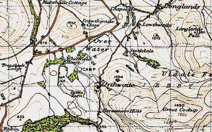 Old map of White Hause in 1947