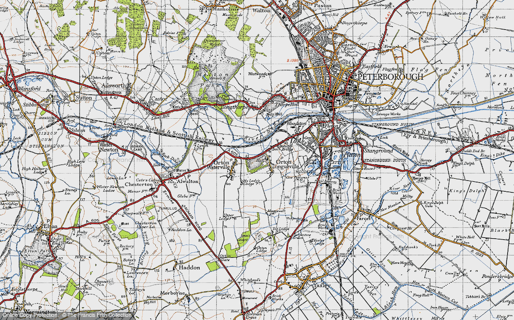 Old Map of Orton Longueville, 1946 in 1946