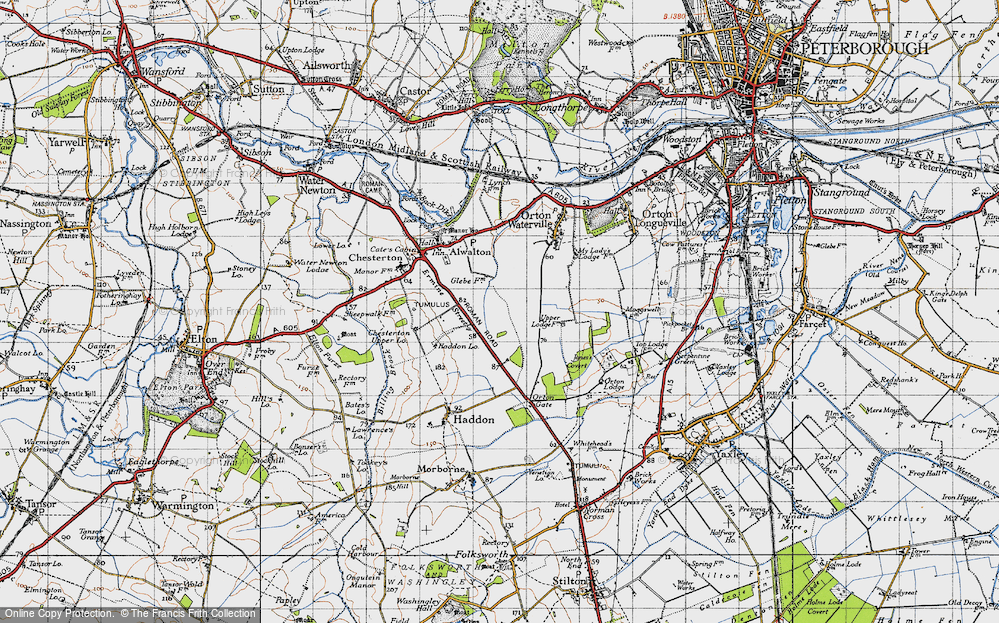 Old Map of Historic Map covering Toon's Lodge in 1946