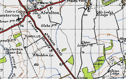 Old map of Toon's Lodge in 1946