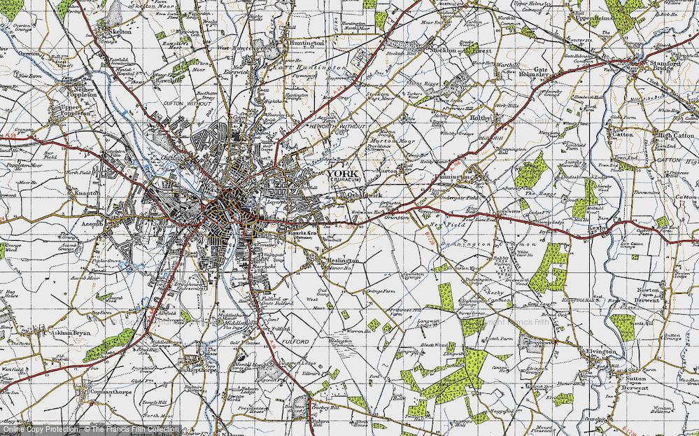 Old Map of Osbaldwick, 1947 in 1947
