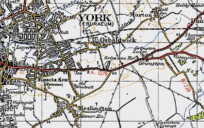Old map of Osbaldwick in 1947