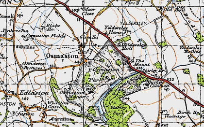 Old map of Yeldersley Hall in 1946