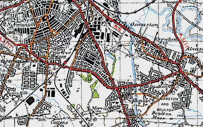 Old map of Osmaston in 1946