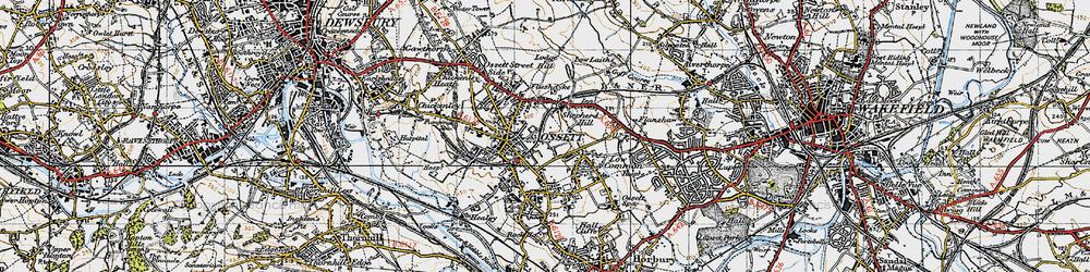 Old map of Ossett in 1947