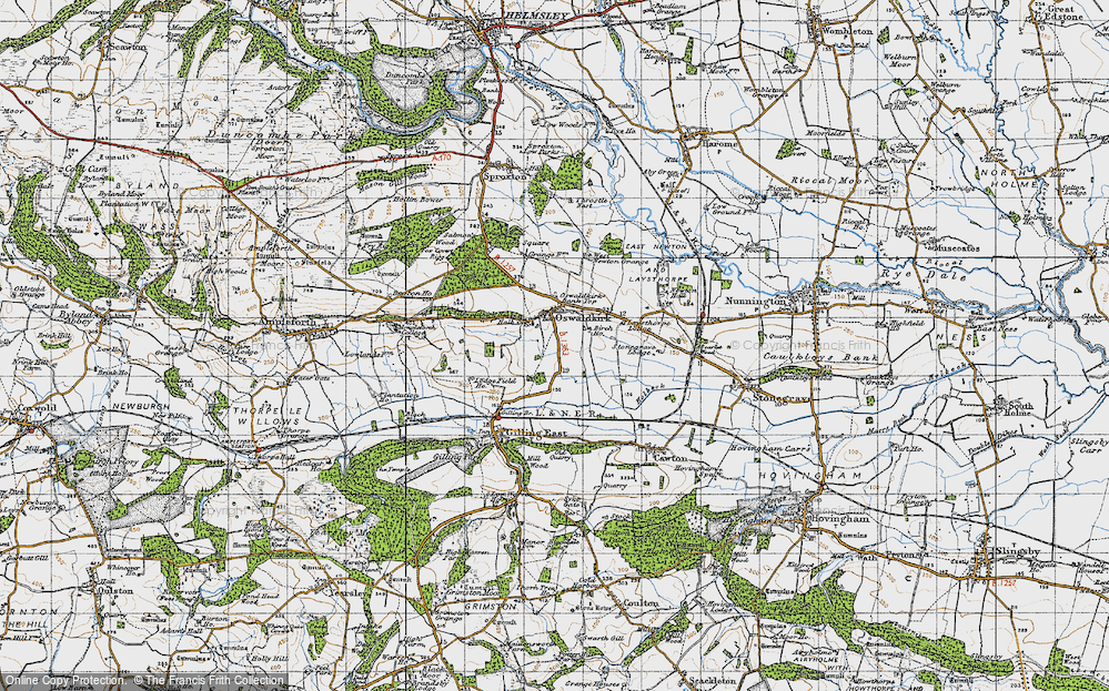 Old Map of Historic Map covering Leysthorpe in 1947