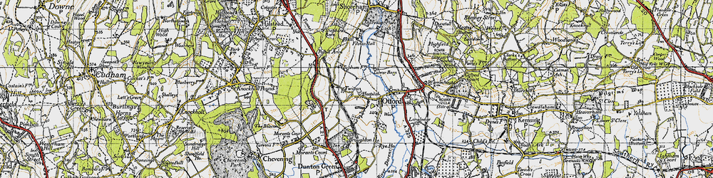 Old map of Otford in 1946