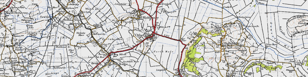 Old map of Othery in 1945