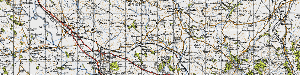 Old map of Airton Green in 1947