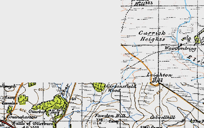 Old map of Leighton Hill in 1947