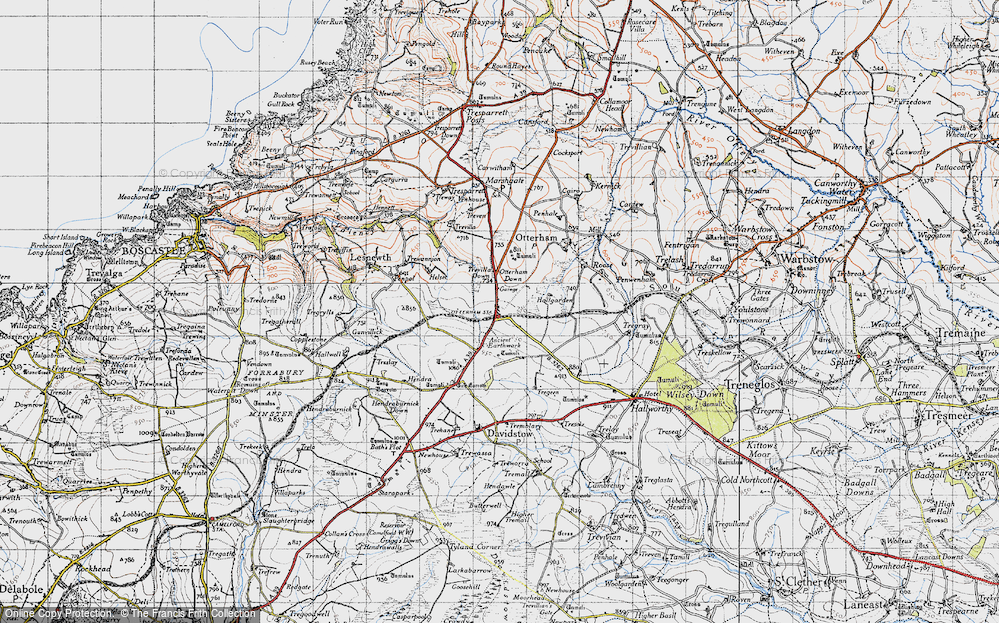 Old Map of Historic Map covering Tich Barrow in 1946