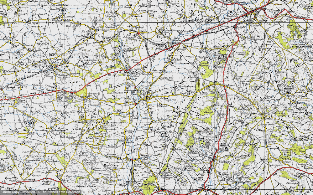 Old Map of Ottery St Mary, 1946 in 1946