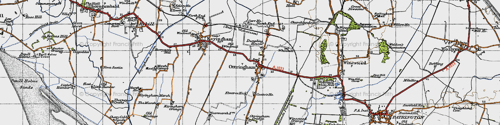 Old map of Westlands Plantation in 1947