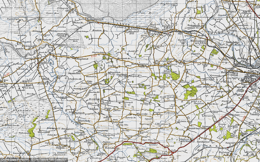Old Map of Historic Map covering Laverickstone in 1947