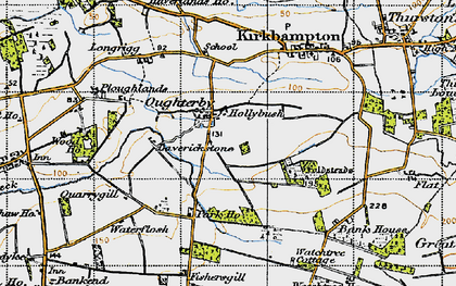 Old map of Laverickstone in 1947