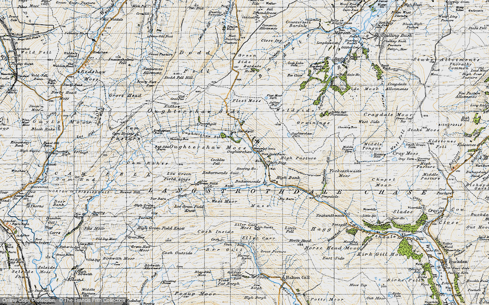 Old Map of Historic Map covering Bardale Head in 1947