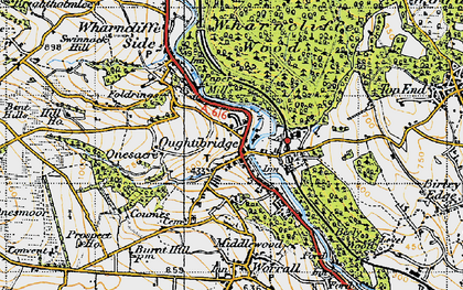 Old map of Wharncliffe Wood in 1947