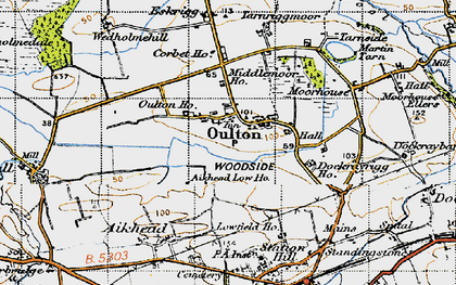 Old map of Aikhead Low Ho in 1947