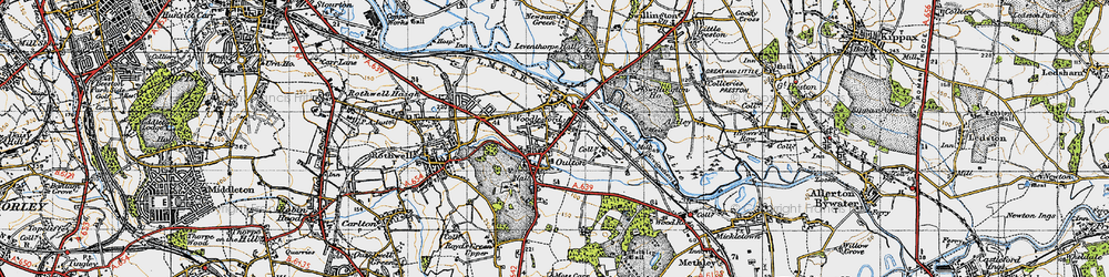 Old map of Oulton in 1947