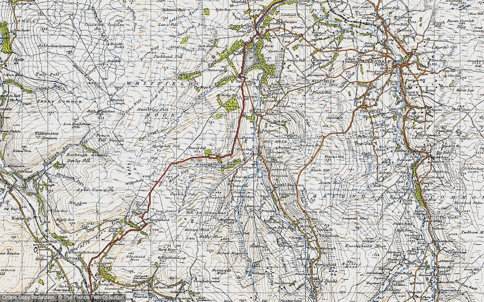 Old Map of Historic Map covering Allen Dale in 1947