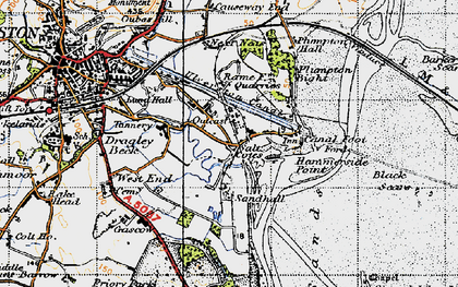 Old map of Sandhall in 1947