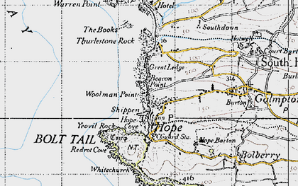 Old map of Woolman Point in 1946