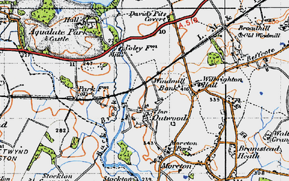 Old map of Windmill Bank in 1946