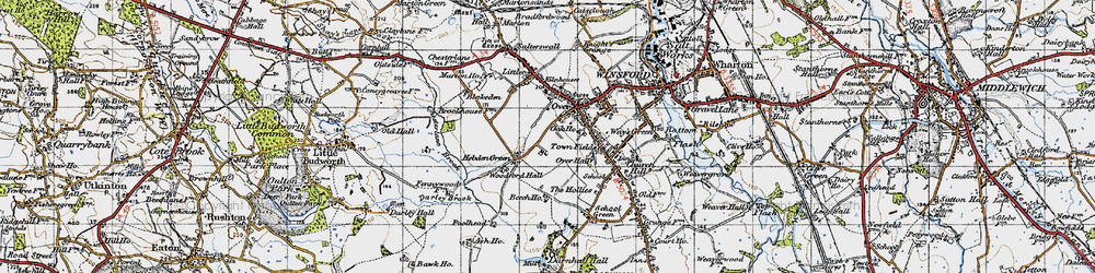 Old map of Over in 1947