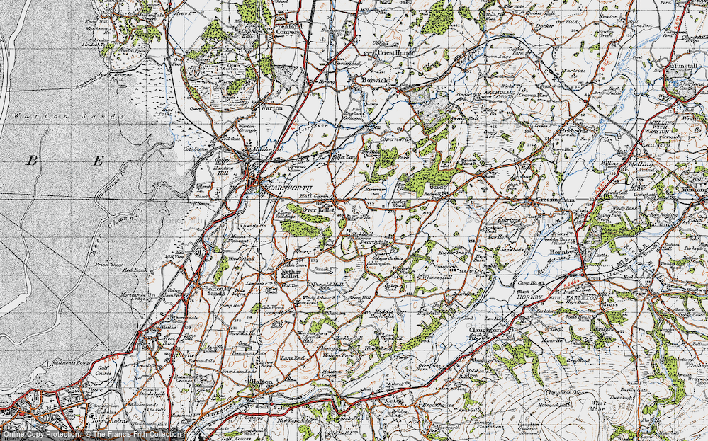 Old Map of Historic Map covering Addington in 1947