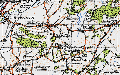 Old map of Over Kellet in 1947