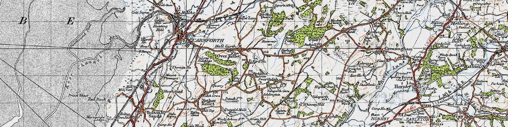Old map of Addington in 1947
