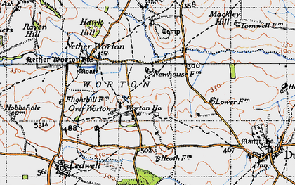 Old map of Worton Ho in 1946