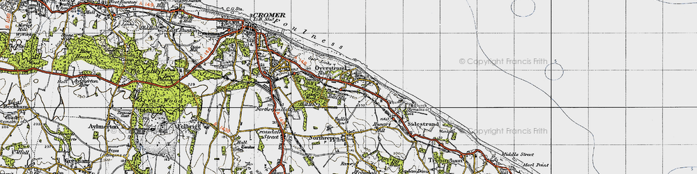Old map of Toll's Hill in 1945