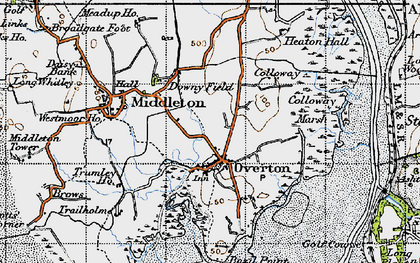 Old map of Overton in 1947
