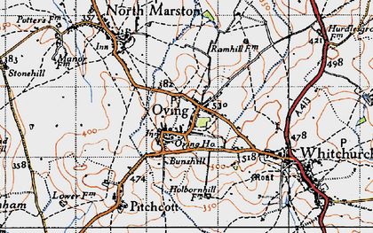 Old map of Oving in 1946