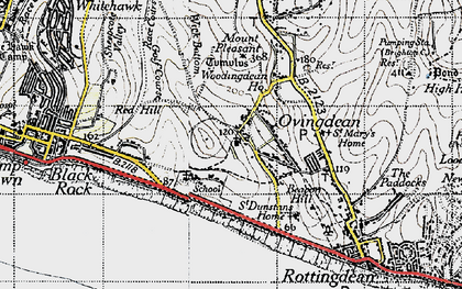 Old map of Wick Bottom in 1940